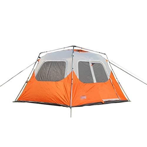 XJH-tunnelzelte Zelt Vollautomatisches, zweischichtiges Mehrpersonen-Großzelt for 5-8 Personen (Size : Orange Double Layer)