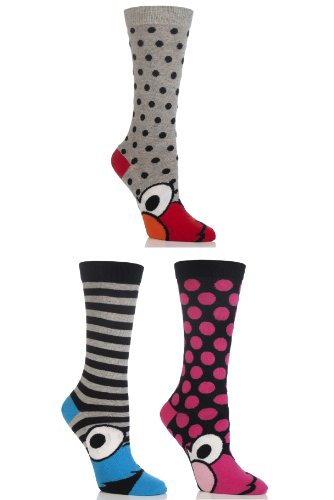ladies-3-pair-sockshop-sesame-street-socks-assorted-4-8
