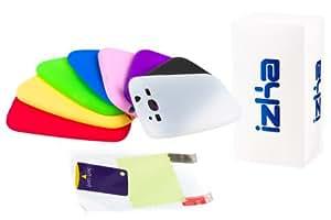 Schutzhüllen aus Silikon (für Samsung Galaxy SIII i9300, inkl. Displayschutzfolie mit Blendschutz) 8 Stück, in Schwarz, Blau, Rot, Gelb, durchsichtig/ weiß, Grün und Violett