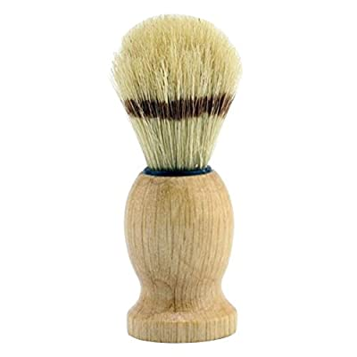 Forepin reg; Hand Crafted Badger Shaving Brush with Wood Handle for Men's Beard Hair Removal Brushes Barber Salon Home Use Razor Shave Tools - Yellow