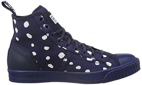 G-STAR RAW Damen Falton Wmn Twill High-Top Blau (dk navy)