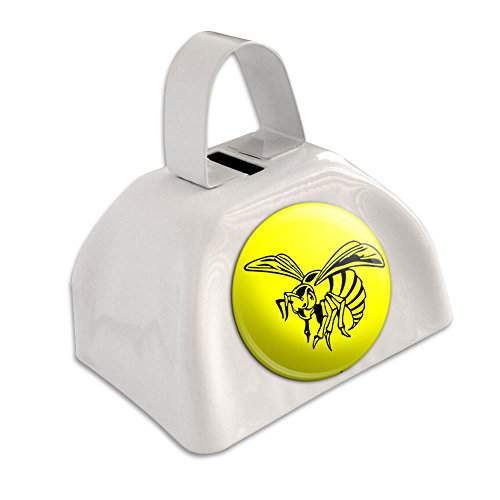bee-wasp-hornet-white-cowbell-cow-bell