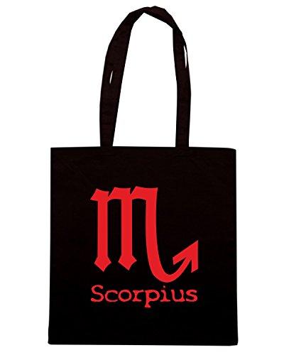 T-Shirtshock - Borsa Shopping T0218 scorpione religioni celtic Nero