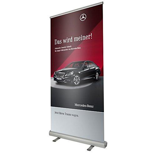 Doppelseitiges Banner-Set, Aluminium, 1000 x 2000 mm - Aluminium Banner