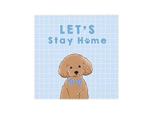 annuor süsse Haustier Hund Reinigungstücher für Bildschirme Gehäuse Tastaturen Gläser Reinigungstuch (blau) (Hund-gehäuse)