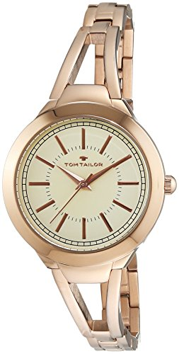 TOM TAILOR Damen-Armbanduhr Analog Quarz Edelstahl beschichtet 5413803