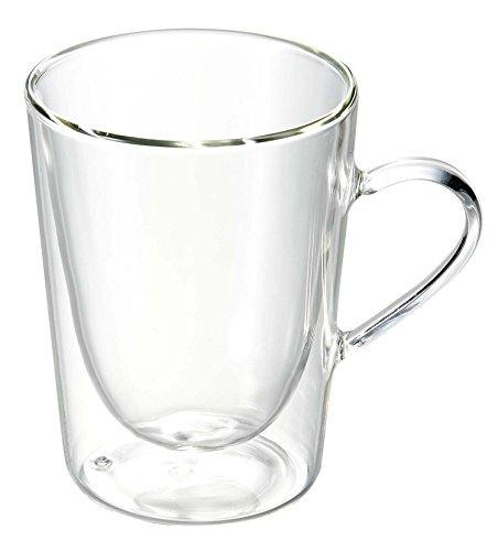 Bredemeijer 1440 - Vaso de café y té de vidrio de doble pared, 29,5