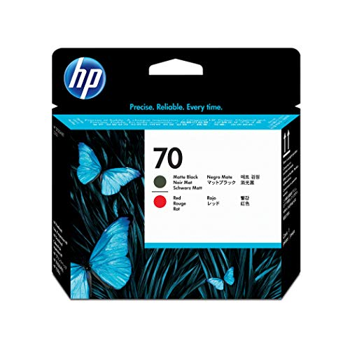 HP DesignJet 70 Druckkopf schwarz/matt - Druckkopf (HP Designjet Z2100, Z3100, Z3200, Mattschwarz, Rot, C9409A, 70 g, 28 x 143 x 132 mm, 100 g) (70 Designjet Hp)