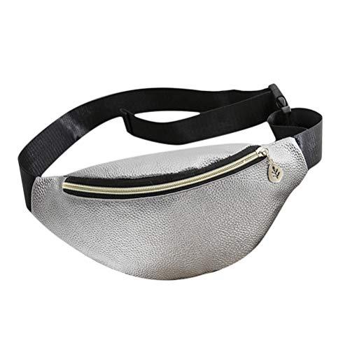 BovoYa Frauen Taille Gürteltasche PU Bauchtasche Reise Hüfttasche Kleine Geldbörse Brusttasche mit verstellbarem Gürtel 18 * 8 * 11cm (Easy Home Kostüm Frauen)