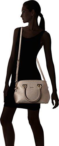 LIU JO ANNA SHOPPING BAG N67083E0087-22222 Black Marrone (Pale Brown Metal.)