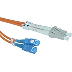 Micro Connectors, Inc. LC/LC MM Duplex 62.5/125 1 Meter Fiber Optic Cable (FBR-522-1M )
