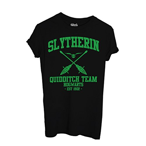 MUSH T-Shirt Slytherin Harry Potter - Film by Dress Your Style - Damen-XL-Schwarz