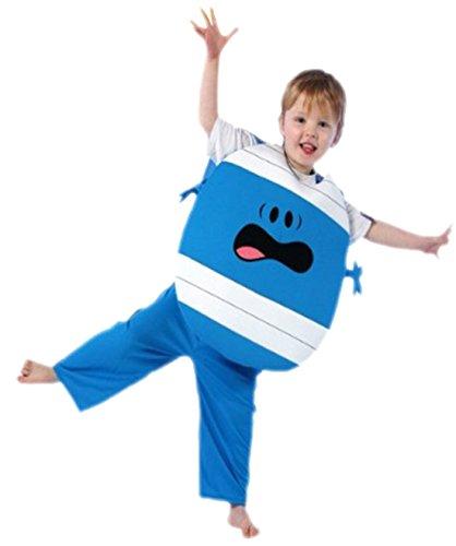 Mr Bump Kostüm, 110, Blau (Mr Bump Kostüm)