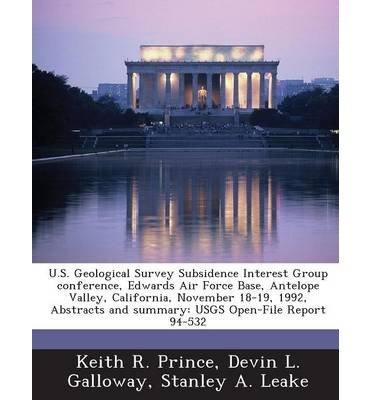 U.S. Geological Survey Subsidence Interest Group Conference,