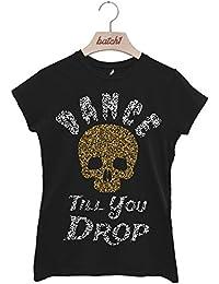 Batch1 Dance Till You Drop Fun Halloween Fashion Fancy Dress Womens T-Shirt