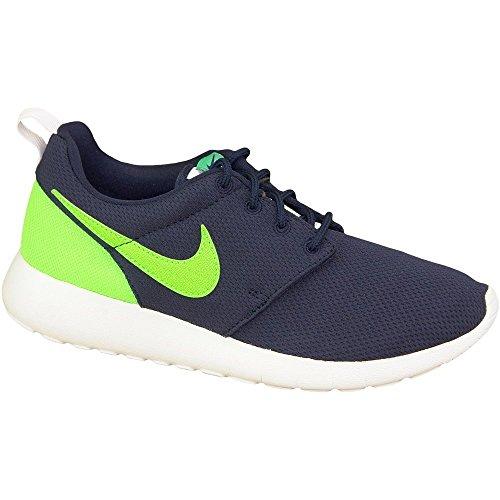 Nike Rosherun Chaussures De Course, Unisexe Enfant Bleu Marine