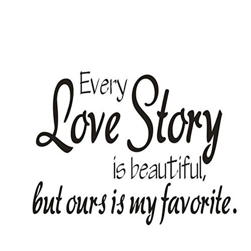 r Every Love Story Wall Sticker Animal Cat Art Applique Wall Decor Wallpaper For Kids Room Mould Wall Bathroom Hot ()