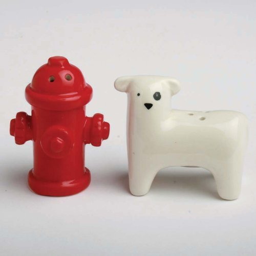 TAG Dog & Fire Hydrant Salt & Peppers Shakers by TAG Fire Salt Shaker