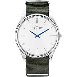 White/Green Kensington Watch by Kennett