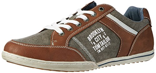 TOM TAILOR Herren 2789006 Low-Top, Braun (Cognac), 41 EU