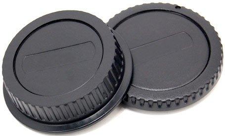 Gehäuse-/Objektivrückdeckel Set / Front- und Rück- Deckel für Kamera-Gehäuse und Objektiv CANON EF Body -