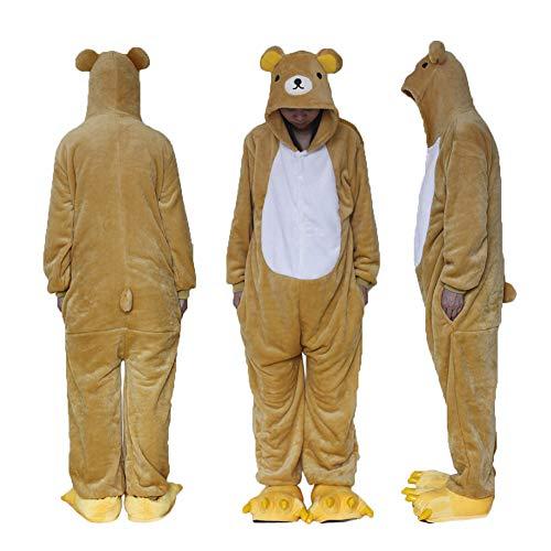 ZHANGZHIYUA Tier Cosplay Kostüm Unisex Erwachsene Pyjamas Cartoon Tier, Einteilige Pyjamas, Sonne und Mond Elfen, Nachtelfen,F,S (Einteilig Pyjama Erwachsene Für)