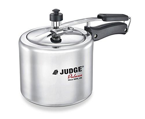 Judge by TTK Prestige Aluminium Pressure Cooker (Induction Base), Inner Lid, 2 litres, Silver