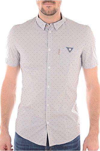 Guess Ss Yd Comfort Shirt, Camicia Uomo Blu