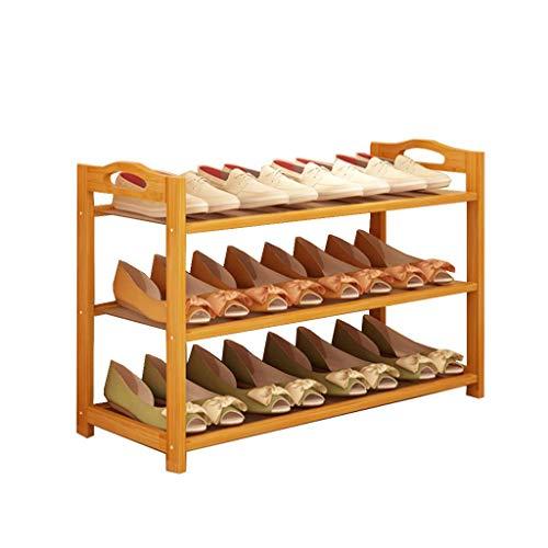 Wenhu 3-Tier-Schuh-Rack   Holzschuh-Speicher Shelf Shoe Organizer   für Entryway Bathroom Balkon   Home & Office   Einfach zu montieren   Fit 10-12 Shoes 80CM -