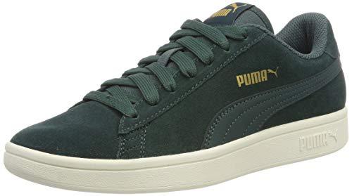 Puma Puma Smash v2, Unisex-Erwachsene Sneakers, Grün (Ponderosa Pine-Puma Team Gold-Whisper White), 38 EU