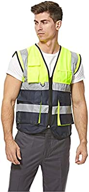 Empiral Dazzle Safety Vest Heavy Duty Dual Color with Zipper