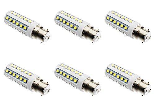 6er Pack 9W 42x 5050 Pommes LED glühbirne BC - B22 Bajonett Basis 12 Volt 24-volt Beleuchtung Großhandelspreis Camper Kabine Lampe - Cool White