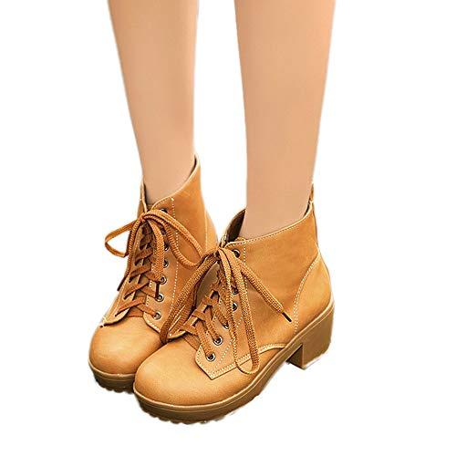 TianWlio Stiefel Frauen Herbst Winter Schuhe Stiefeletten Boots Mode Leopard Schuh Reizvolle Pumps Zehe Zehe Absatz Mittlerer Schlauch Stiefel Gelb 40