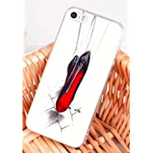 0ab80c285646 Wrap Coque iPhone X et iPhone XS Fashion Chaussures Noir et Rouge Blanc  Silicone Souple