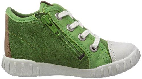 Ecco  Mimic, Chaussures premiers pas pour bébé (fille) Vert - Grün (ShadowWhite/Cactus Sambal/Suede58964)