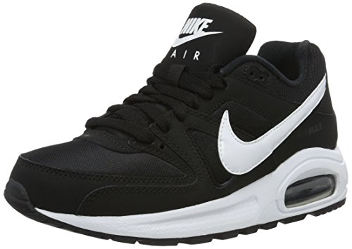 Nike Schuhe Jungen Leder (Nike Jungen Air Max Command Flex (GS) Sneaker, Schwarz (Black/White White 011), 36 EU)