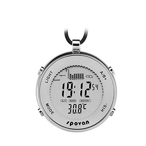 Milnnare Herren Sport Taschenuhr Wasserdichte Angeln EL Hintergrundbeleuchtung Höhenmesser Alarm Stoppuhr - Weiß