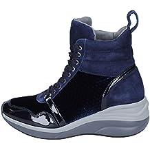 Cesare Paciotti 4US Sneaker Donna Pelle Verniciata Blu 35928eec0b3