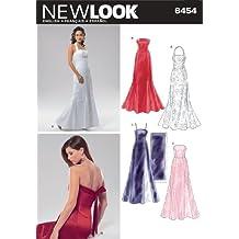 New Look patrones de costura para vestidos de fiesta de Chica patrón de costura para 6454