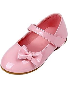 Minuya Mädchen Schuhe Kinder Baby PU-Leder Weiche Sohle Prinzessin Schuhe Mary Jane Halbschuhe Lauflernschuhe...