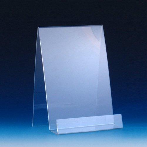VITAdisplays® DIN A4 Buchständer / Warenträger aus Acrylglas, Transparent (NE-385)