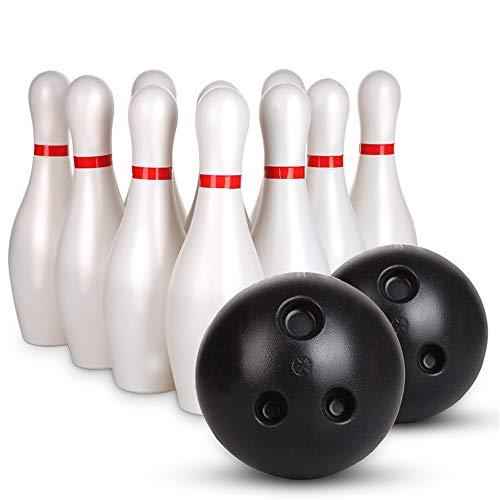 Kinder Bowling Set, Bowling Pins Ball Spielzeug kleine Kunststoffe Bowling Set Spaß Indoor-Spiel mit 10 Mini-Pins und 2 Kugeln Spielzeug großes Geschenk für Baby Kinder Kleinkinder Jungen Mädchen Kind