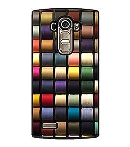 HiFi High Glossy Designer Phone Back Case Cover LG G4 :: LG G4 Dual LTE :: LG G4 H818P H818N :: LG G4 H815 H815TR H815T H815P H812 H810 H811 LS991 VS986 US991 ( Clothing Fabric Thread Colorful Pattern Design )