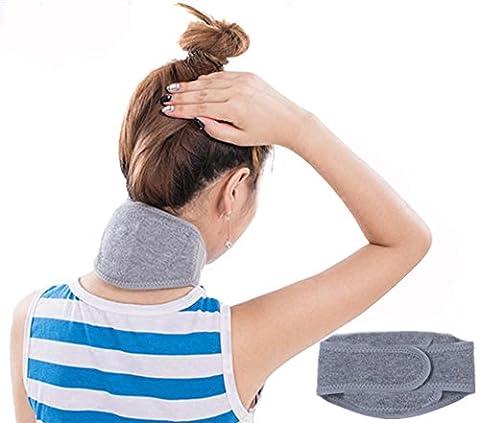 Collier cervical minerve–respirant doux laine Support de Cou Réglable Unisexe pour stabiliser vertèbres et cadeau de Noël (Gris)