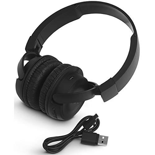 JBL T450BT Cuffie Sovraurali Bluetooth Cuffie On Ear Wireless con Microfono e Comandi su Padiglione JBL Pure Bass Sound, Leggere e Pieghevoli, da Viaggio, fino a 11 h di Autonomia, Nero - 7