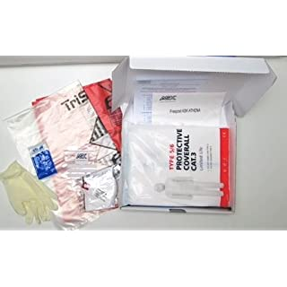 Complete Sealed Abestos Test Kit for DIY & Professional Use - 4 x Samples Per Kit - includes protective clothing, waste bags & 24 hour analysis by a UK government approved laboratory