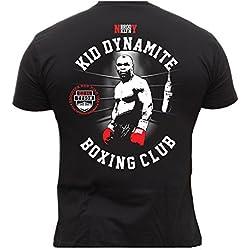 Dirty Ray Boxeo Kid Dynamite Boxing Club camiseta hombre T-shirt K22C (XL)