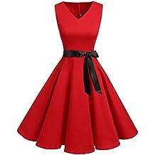 buy popular 204ec f14ec Amazon.it: vestiti anni 50 - Rosso