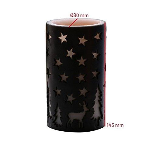 Vela LED Navidad Color Negro Negro efectoLED