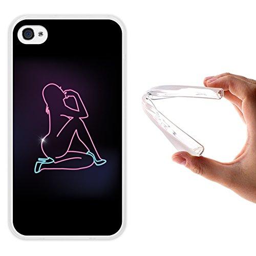 WoowCase iPhone 4 iPhone 4S Hülle, Handyhülle Silikon für [ iPhone 4 iPhone 4S ] Sexy Frau Silhouette Handytasche Handy Cover Case Schutzhülle Flexible TPU - Transparent - 4 Iphone Sexy Frau
